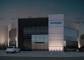 Imagem ilustrativa da fachada do Norden Hospital, que inaugura na segunda quinzena de setembro, 2018