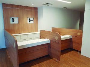 Mobiliário imponente no Hospital Cárdio Pulmonar 2