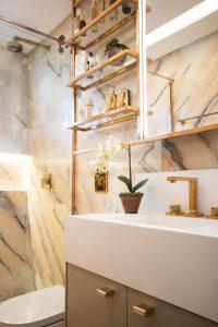 6 banheiros com pouca metragem, mas cheios de estilo nas decorações 14