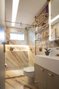 6 banheiros com pouca metragem, mas cheios de estilo nas decorações 13